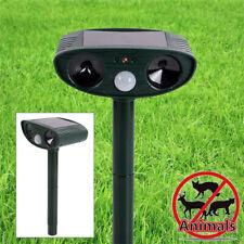 Anti-Nuisible Détecteur Mouvement Solaire Ultrasonique Chien Chat Rongeur Animal
