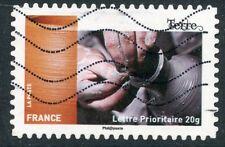 TIMBRE FRANCE AUTOADHESIF OBLITERE N° 1074 METIERS DE L'ARTISANAT / LA TERRE