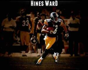 """Hines Ward Edited Custom With """"Hines Ward"""" On Top Unsigned 8X10 Photo"""