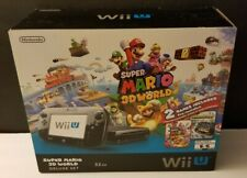 Nintendo Wii U Super Mario 3D World Deluxe Box And Inserts Only *NO CONSOLE*