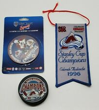 Colorado Avalanche NHL 1996 Stanley Cup Champions Banner Pennant Puck Pin Lot