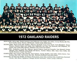 1972 OAKLAND RAIDERS 8X10 TEAM PHOTO FOOTBALL PICTURE NFL WESTERN DIV CHAMPS