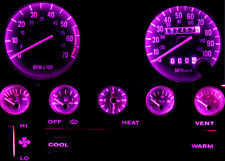 Jeep YJ Wrangler Purple LED Speedometer Gauge Cluster & Dash & Interior LED Kit