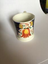 Lovely C19th Gaudy Welch Miniature Mug Tulip Pattern