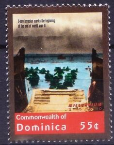 End of World War II, D Day Invasion, Dominica 2000 MNH Millennium