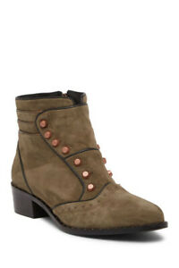 Ivy Kirzhner Soldier Stud Bootie Millitary Green Studded Pointed Boots