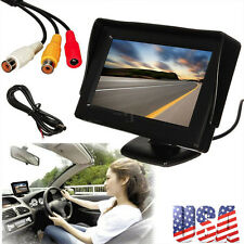 New 4.3 Inch LCD TFT Rearview Rear view Monitor screen for Car Backup Camera @