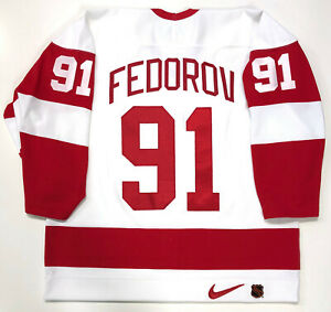 SERGEI FEDOROV DETROIT RED WINGS NIKE AUTHENTIC 1997 STANLEY CUP JERSEY SIZE 52