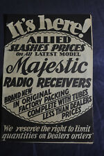 1931 Allied Radio Brochure - Slashing Prices on Majestic Radio Receivers Brochur