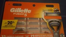 Gillette Fusion 5 Razor Blades 12 Replacement Cartridges Blades SEALED FREE SHIP