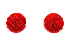 Pair of HELLA 60mm Round Red Rear Reflectors