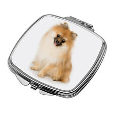 More details for pomeranian compact mirror / square with curved edges / new / perfect gift!