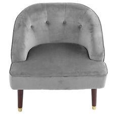 Einzelsessel Relaxsessel Wohnzimmer 1-Sitzer Sofa Holzfüße Polstersessel Grau