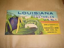 Ponchatoula, Louisiana Vegetable 1930s Walle & Co. NOLA Printers