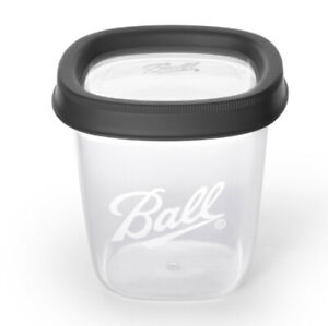 Ball, Freezer Jars, Plastic, Grey, 16 oz, 2 pack