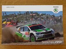 Jan Kopecky SKODA MOTORSPORT Rally Fabia R5 WRC Official Photocard