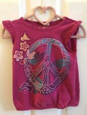 Girl's Op brand pink peace shirt size 3t Preowned