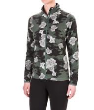 Helly Hansen - Womens XL - NWT  Green Floral Print Full Zip  Bykle Fleece Jacket