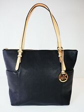 Michael Kors Jet Set East West Black Top Zip Tote Bag New Without Tags