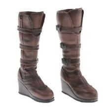 1/6 Female Cops Combat Boots Knee High Shoes for 12 inch Action Figures Accs