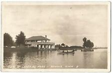 Winona Minnesota MINN MN ~ Lakeside Park Boat House RPPC Real Photo 1928