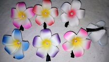 Joblot 50 Women Girls Plumeria Flower Foam Hair Clip  New Wholesale
