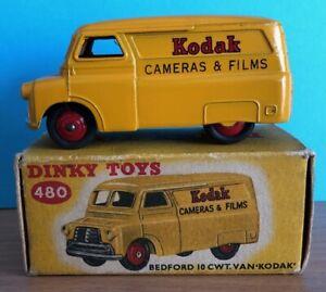 "Dinky Toys 480 Bedford 10CWT Van ""Kodak"" in an Original Intact Box VNM ""Used"""
