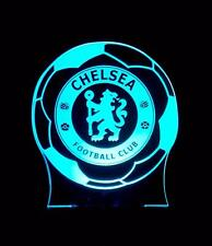 CHELSEA ENGLISH FOOTBALL TEAM PERSONALISED NAME LED NIGHT LIGHT LAMP 13 COLOURS