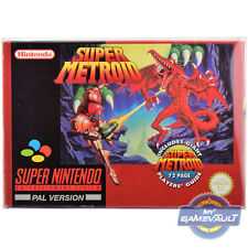 Game BOX PROTECTOR for Snes Super Metroid Big STRONG 0.5mm Plastic Display Case
