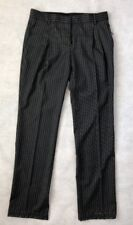 Valentino Women Pants Size 38 NWT 100% Virgin Wool Striped Grey