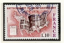 TIMBRE FRANCE OBLITERE N° 1985 ILE SAINT BARTHELEMY / Photo non contractuelle