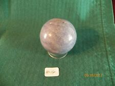 "ONE SODALITE STONE SPHERE 2"" OR 50MM (NEW) W/PEDESTAL-- M-16"