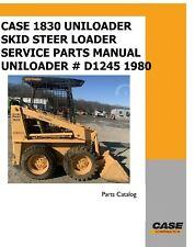 Case 1830 Uniloader Skid Steer Loader Service Parts Manual D1245 1980