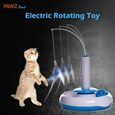 Cat Puzzle Pet Fun Electric Automatic Rotating Play Interactive Toys Plush