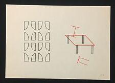 Michel Sauer, ohne Titel, Zinkstempeldruck, 1991, handsigniert und datiert