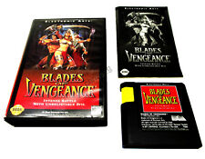 BLADES OF VENGEANCE SEGA MEGA DRIVE GAME VERY RARE SUIT COLLECTOR GENESIS NOMAD