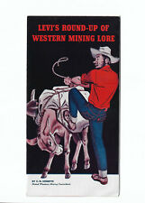 Levi Strauss Levi's Vtg 1950 Western Mining Lore Advertising Brochure Schuette