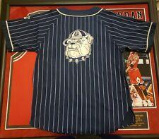 Vtg Rare Ncaa Georgetown Hoyas NavyStarter Pinstripe Baseball Jersey Mens medium