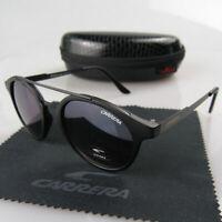 Men Women Retro Sunglasses Round Matte Frame Black High Quality Carrera Glasses