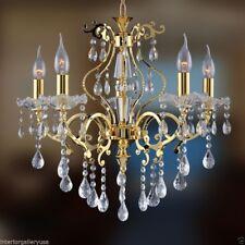 K9 Crystal Chandelier - 5 Light - Crystal Chandelier - Polished Gold - Alana