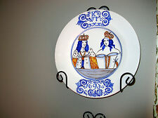 MICHELLE ERICKSON WILLIAMSBURG STYLE DELFT WILLIAM AND MARY 1693 PLATE