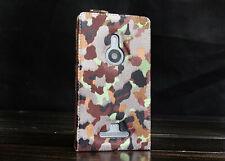 Urcover® Next Station Tarn Green Cases cork wood Flip Case Cover glass film