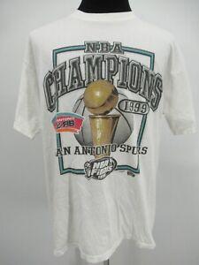 P4692 VTG Men's San Antonio Spurs Champions 1999 Basketball-NBA T-Shirt Size XL
