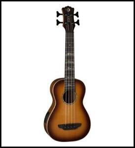 Luna Guitars Ukulele Bass High Tide acoustic / Electric Solid Spruce Top