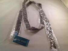 """Gunmetal Mesh  Belt by Nine West   60""""   New with tag"""