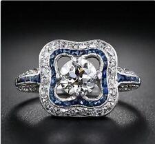 2.64ct Unique Design White Round Diamond 14K WhiteGold Engagement Ring/CertifIed