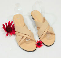 Damian's Slip On Sandals Cream Low Wedge US 9 SKU-C048