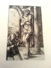 Albrecht Durer 3x4.5 1509 plate signed B.3  engraving christ before