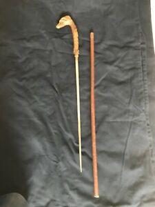 antique hunters walking stick with hidden cutlass