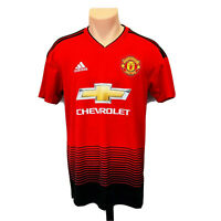 *NEW* Adidas (Men Size S) Manchester United Home jersey Red Black Soccer Jersey
